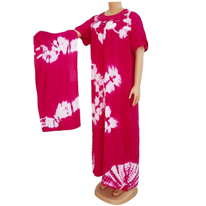 Dashikiage black cotton soft textured comfortable dress with a big scarf 8