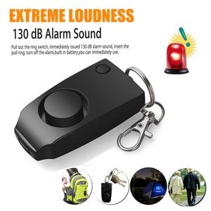 Loud Keychain Emergency Alarm Self Defense Alarm 130dB Girl Women Security Protect Alert wolf Personal Safety Scream anti rape(China)