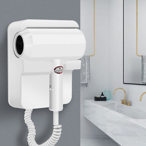 Image 3 - 1300W fashion wall mounted hair dryer hotel bathroom 220V / 110V overheated automatic power off air blower