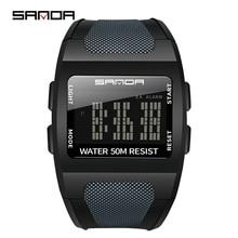 SANDA 222 Top Brand LED Digital Men Watch Fashion Sport Wristwatch Casual Display Waterproof Male Diving Clock Relogio Masculino