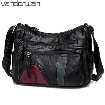 Black Winter Style Washed Leather Luxury Handbags Women Bags Designer Ladies Shoulder Crossbody Bags For Women Sac A Main Bolsa