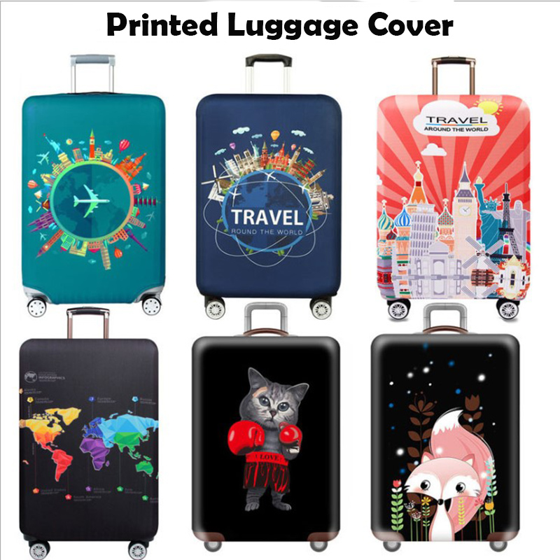 Thicker Travel Luggage Cover Protective Suitcase Case Travel Accessorie Baggag Elastic Luggage Cover Apply To 18-32inch Suitcase