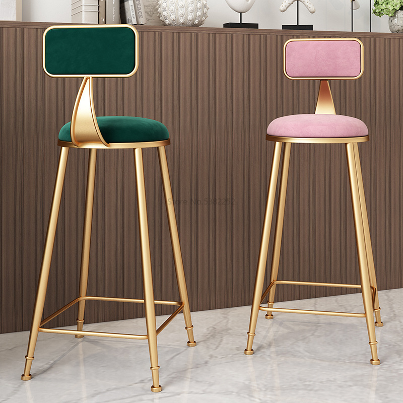 Nordic Gold Metal Chair Modern Dining Chairs For Sale Light Extravagant Bar Cafe Chair Living Room Furniture Sillas Comedor