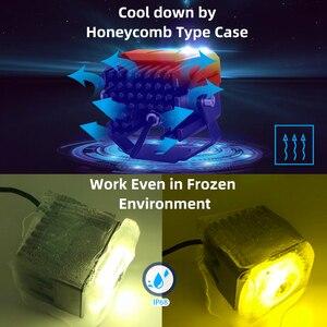 Image 5 - CNSUNNYLIGHT Mini Bi Farbe LED Projektor Objektiv Arbeit Licht Nebel Lichter 4X4 Offroad Auto Scheinwerfer Dual Strahl Moto Bike Scheinwerfer 12V
