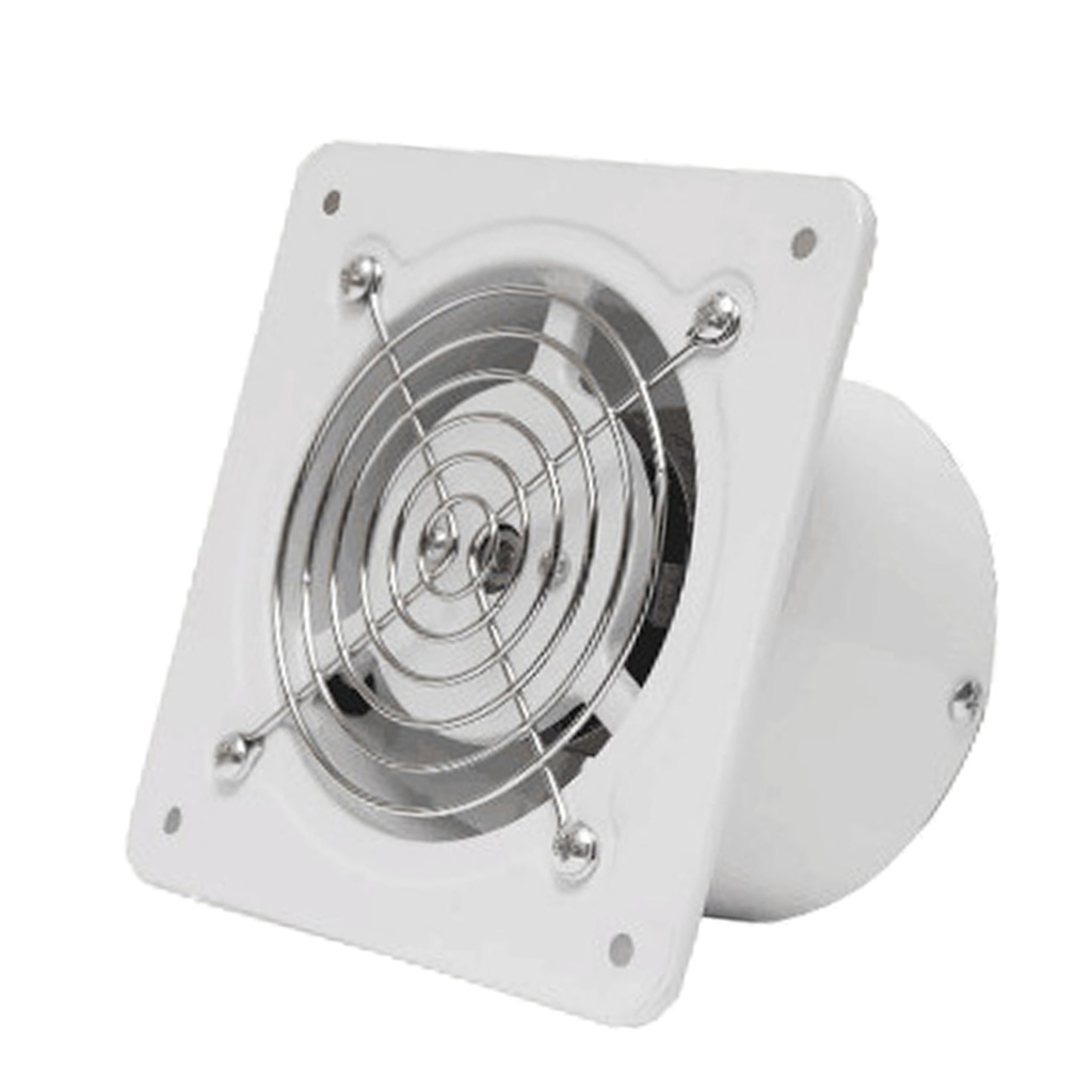 4 Inch <font><b>100mm</b></font> Booster <font><b>Fan</b></font> Inline <font><b>Duct</b></font> Vent Blower for Bathroom Shower Exhaust and Intake Air Cooled Blower image