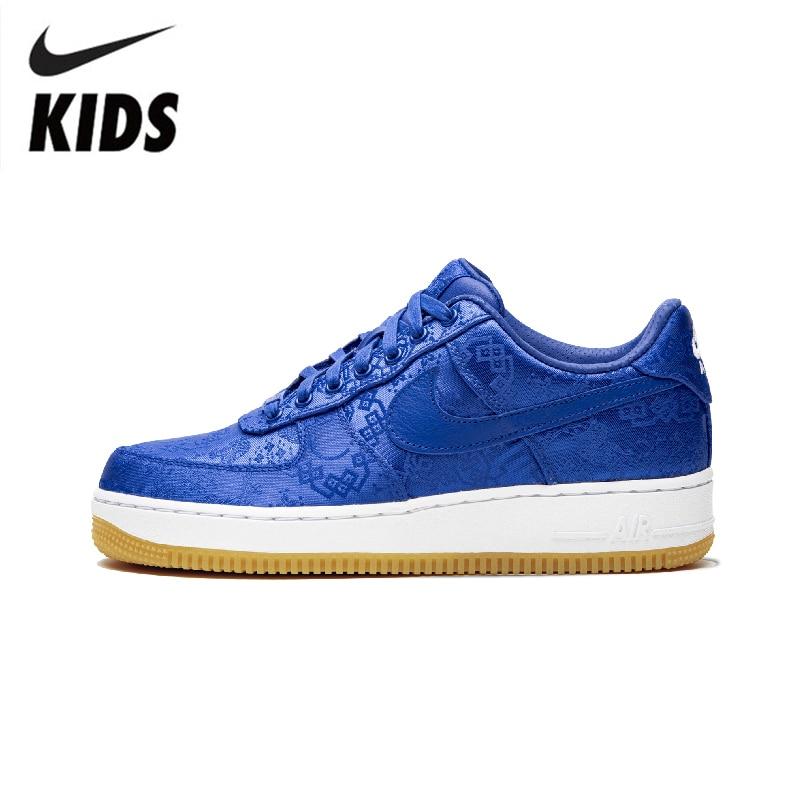 Nike Air Force 1 Kids Shoes AF1 Boys Breathable Skatebording Shoes Antislip Girls Sneakers