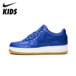 Nike Air Force 1 chaussures enfants AF1 garçons respirant chaussures à roulettes antidérapant filles baskets