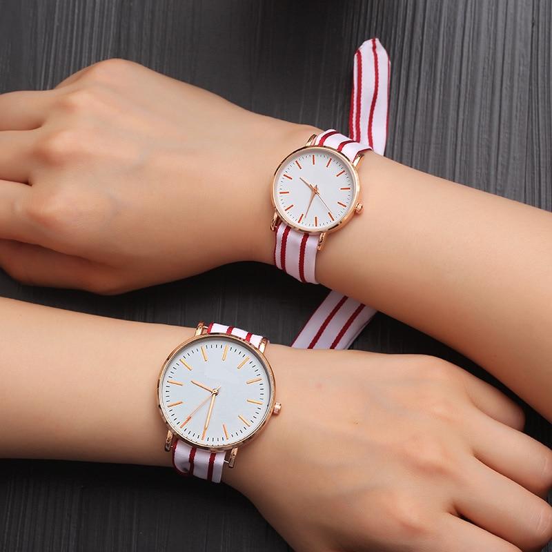 Hot Fashion Lovers Watches Men Women Casual Leather Strap Quartz Watch Women's Dress Couple Watch Clock Gifts Relogi No Bracelet