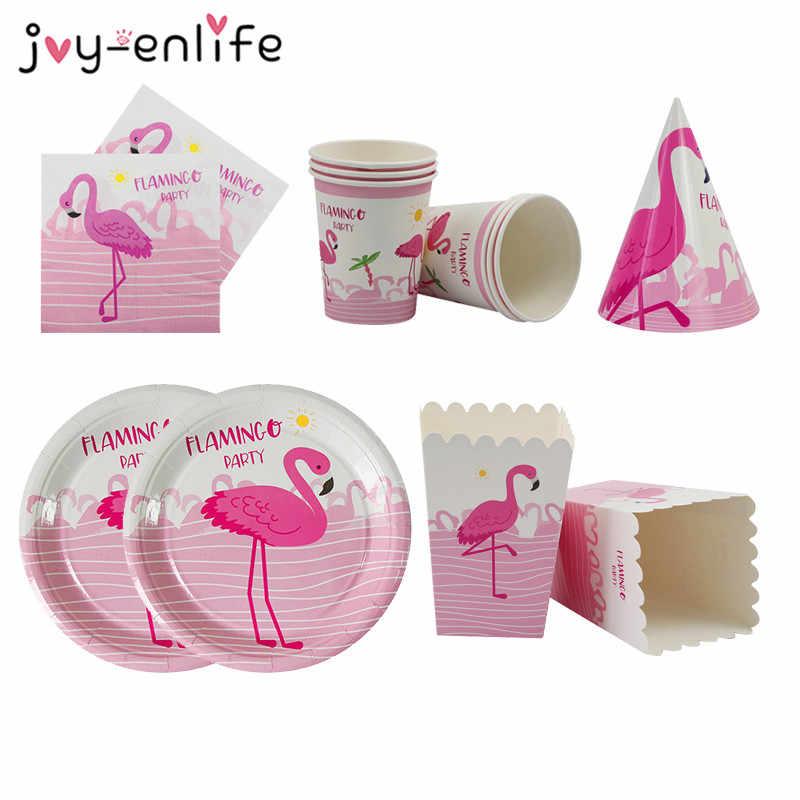 Flamingo Pink Glitter Foil Paper Straws 10 Tropical Party Luau Birthday Hawaii