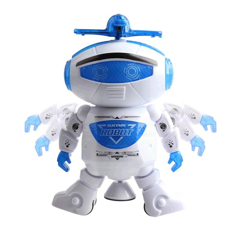 Electronic Walking Dancing Robot Toys With Music Lightening For Kids Boys Girls Toddlers Battery Operated Toy Christmas Gift