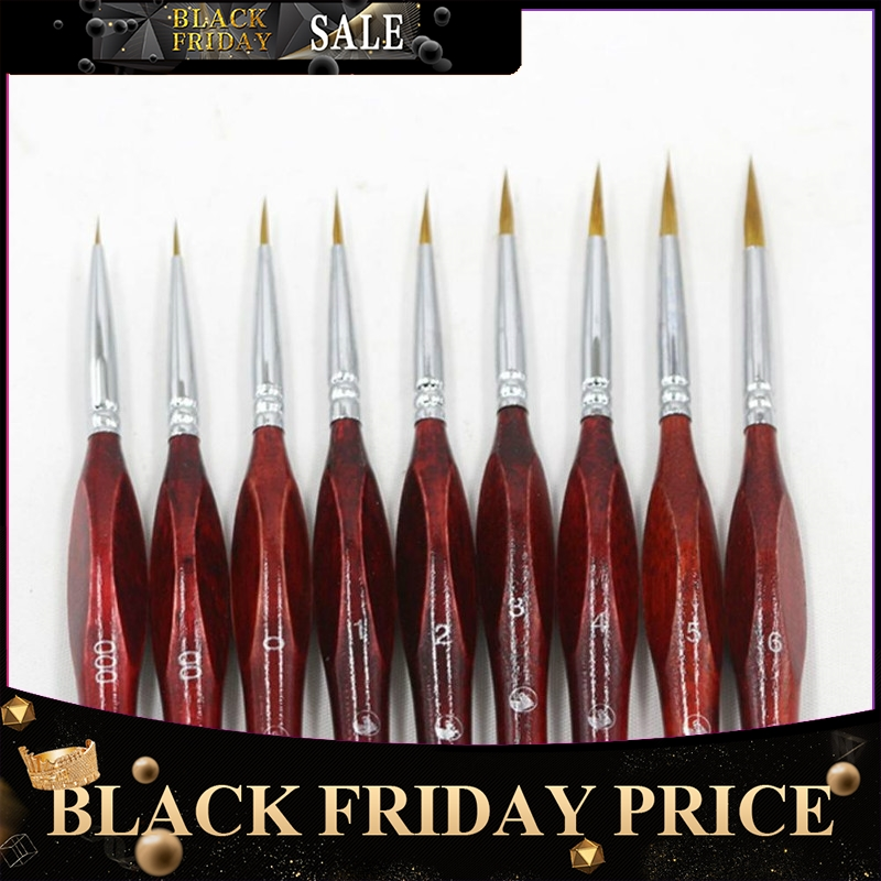 Line Fine Professional Sable Hair Paint Brush Miniature Art Brushes For Drawing Gouache Oil Painting Brush Art Supplies R20