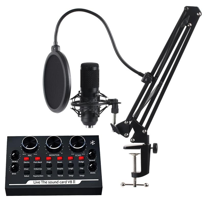 Комплект конденсаторного микрофона BM800 с консольным микрофоном, микрофон для караоке для ПК, мобильного телефона, профессиональный студийн...