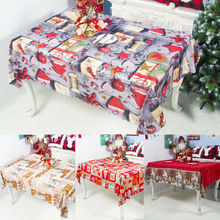 2019 New Christmas Tablecloth Table Cover Cloth Holiday Dinner Party Decor