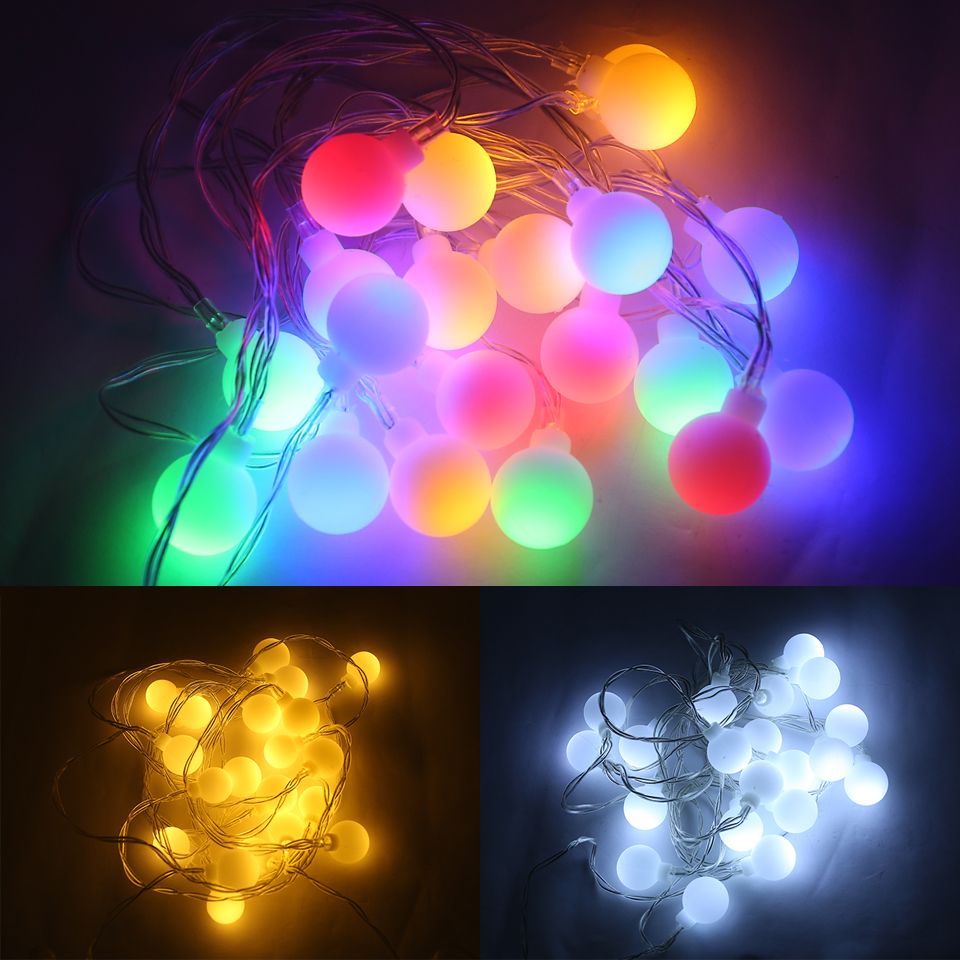 Christmas Lights Outdoor Decorations For Home Led String Lights Bulb Fairy Lighting Color Decor Indoor String Garden Tree Xmas 3