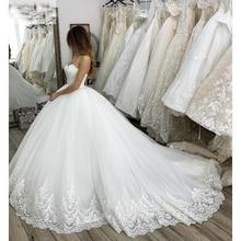 Vestido דה Noiva אלגנטי בת ים שמלות כלה שווי שרוול כלה שמלות מלא תחרה אפליקציות תפור לפי מידה כלה שמלות