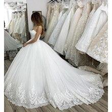 Vestido de Noiva Elegant A Line Wedding Dress Sleeveless Bridal Gowns Lace Appliques Custom Made Bride Dresses