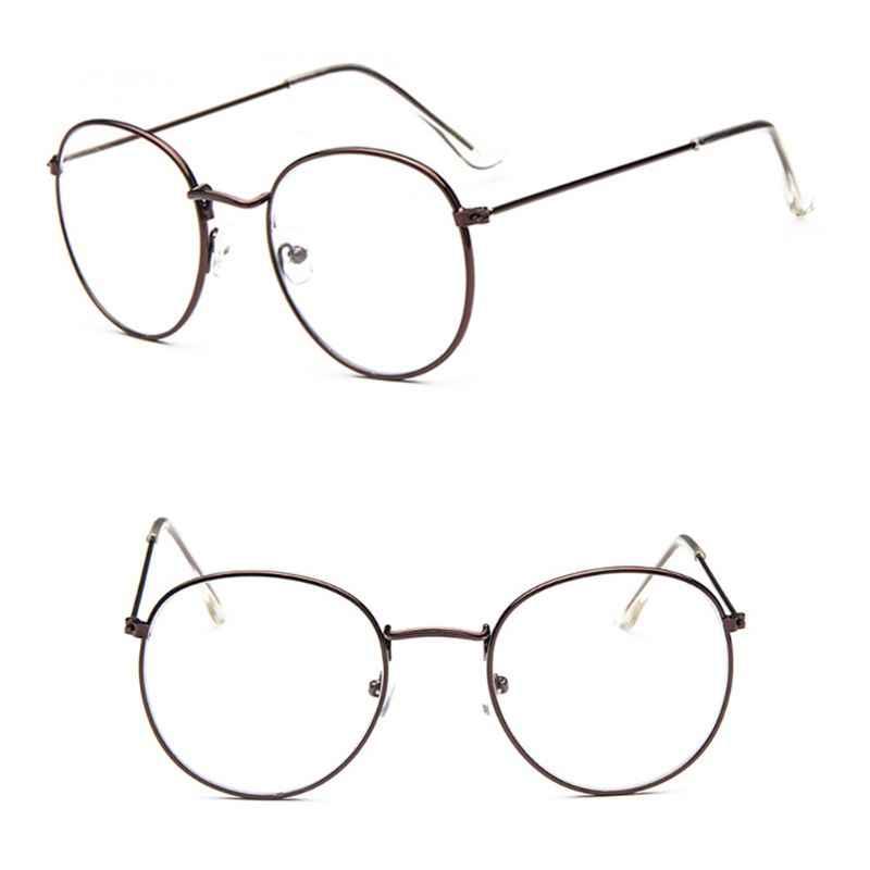 Koreanischen Stil Retro Runde Metall Brille Rahmen Für Frauen Männer College Stil Große Rahmen Brillen