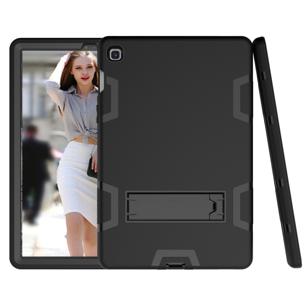 Tablet Case For Samsung Galaxy Tab A 10.1 Inch T510/T515 2019 New Portable Solid Color Shock-Proof Stand Protective Case