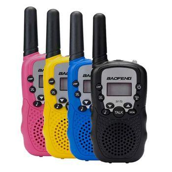 2Pcs/Set Fashion BaoFeng BF-T3 Kids Safe Portable Two-Way Radio Transceiver For Children Walkie Talkie 1