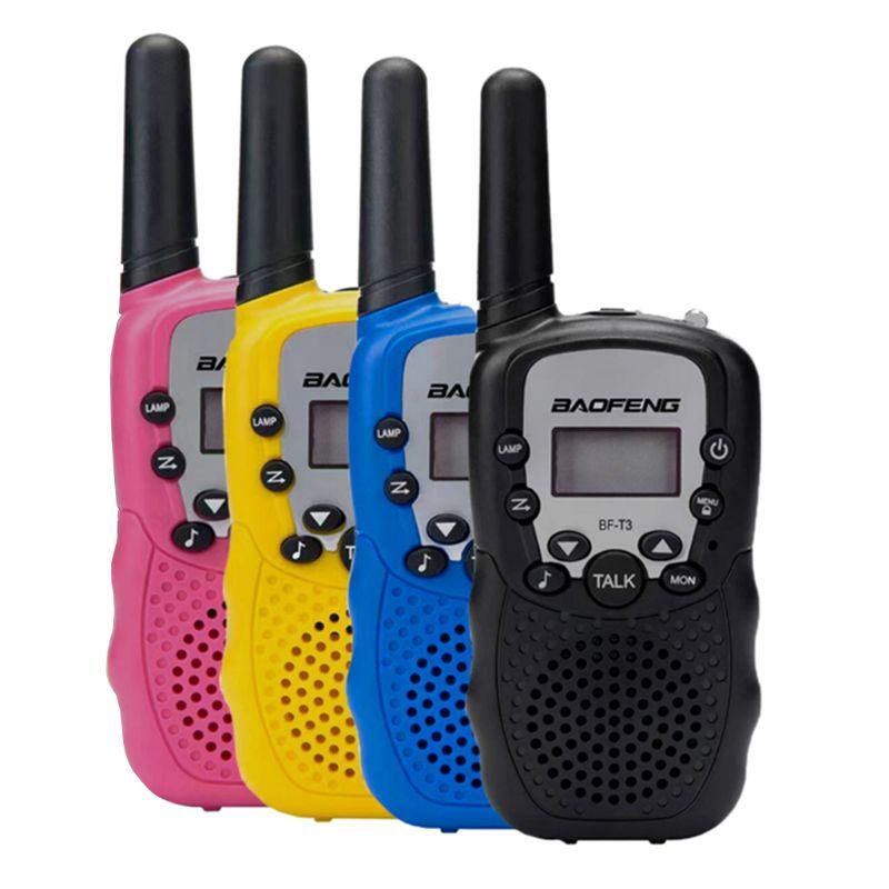 2 шт./компл. Мода BaoFeng BF-T3 дети Безопасный Портативный двухстороннее радио приемопередатчик для детей иди и болтай Walkie Talkie