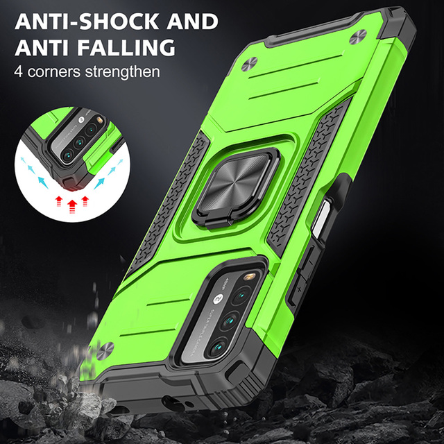 Drop resistance Military Rugged Case For Xiaomi Redmi 9T Armor Fall resistant impact Shock proof Shield Cover For Redmi 9 Power