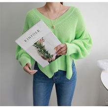 Новинка 2020 Зимний Простой Однотонный свитер для дам элегантный