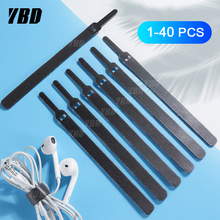 YBD 40 Wire Cable Protector Cable Organizer Wire Winder For Mouse Cord Earphone HDMI Aux USB Cable Management Cable Holder