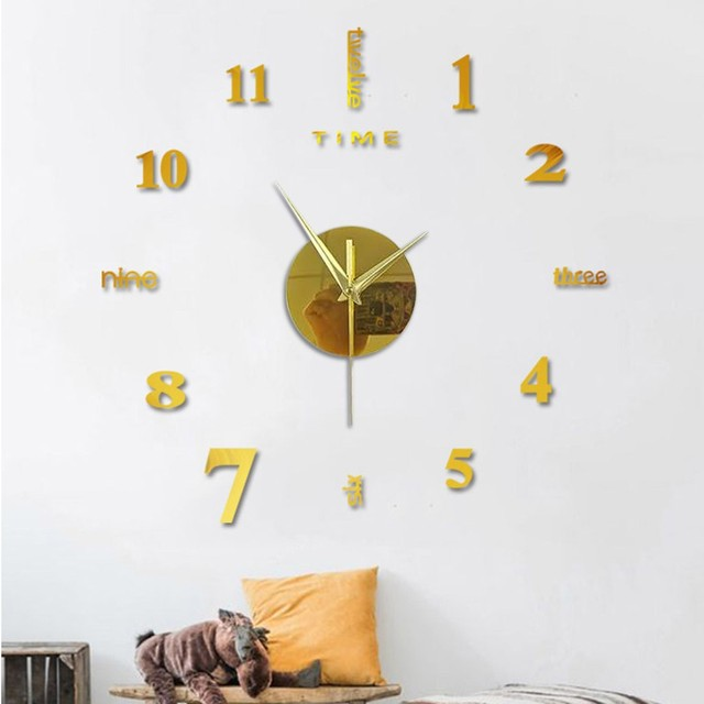 Top Selling Product Frameless Diy Wall Mute Clock 3d Mirror Surface Sticker Home Office Decor Support Wholesale Dropshipping 5