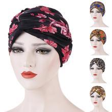 מוסלמי נשים טוויסט קשר הכימותרפיה כובע סרטן כובע טורבן כובע מצנפת ראש צעיף לעטוף הודי כובע בימס Skullies 2019 ערבי האסלאמי כובע