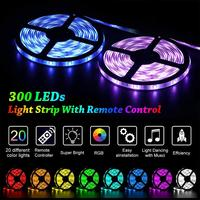 Maidodo 24V 5M/10M 5050 60SMD RGB LED Light Strip Light with 44 Key IR Remote+24V 5A DC Plug Adapter Power Supply