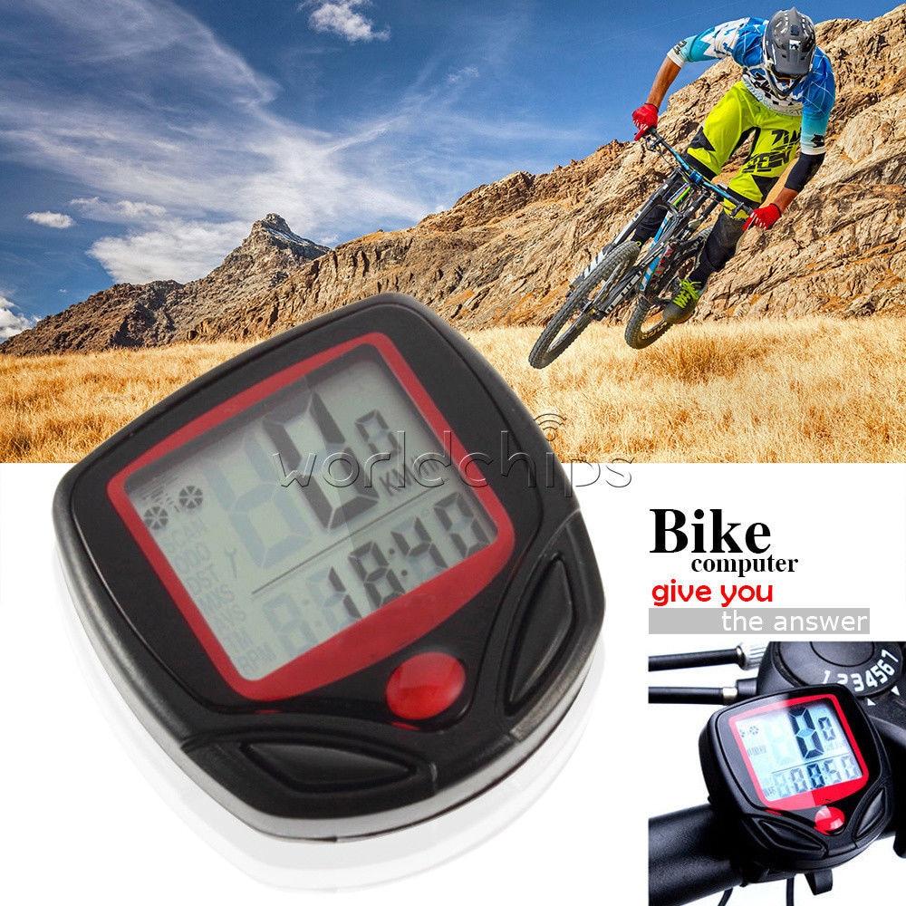 bicycle computer LCD MTB digital display LED sensor waterproof bicycle odometer speedometer riding stopwatch bike accessories