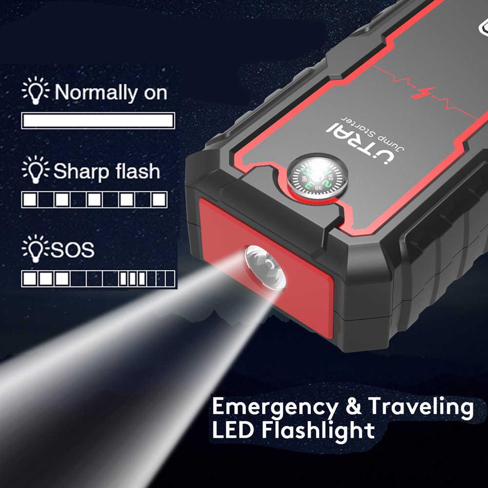 UTRAI urządzenie do awaryjnego uruchamiania akumulator samochodowy wzmacniacz mocy banku 2000A/1600A 12V Auto urządzenie zapłonowe ładowarka ładowarka awaryjna rozrusznik