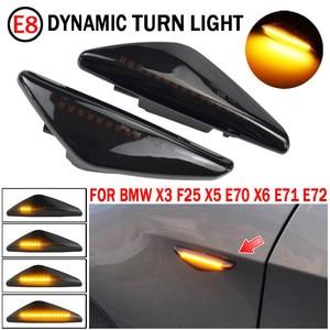Image 2 - BMW için X3 F25 X5 E70 X6 E71 E72 2008 2014 LED dinamik dönüş sinyal ışığı yan çamurluk Marker lamba sıralı göstergesi flaşör