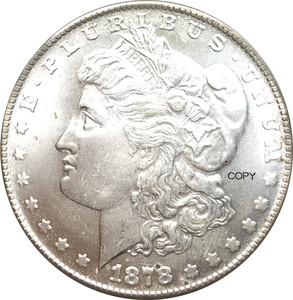 Untied States of America Morgan One Dollar 1878 CC Cupronickel Silver Plated Replica Copy Coin(China)