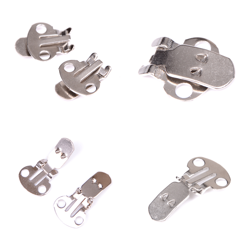 10PCS/Set Silver Color Blank Stainless Steel Flower Shoes Clips For Shoes Accessories Ornament On Findings DIY Craft Buckles