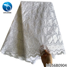 LIULANZHI Hollowed Out African Bazin Riche Fabric with Stones White Bazin Brocade 5 Yards ML56B09/ML56B08 liulanzhi white bazin african riche fabric cotton african embroidery jaquards riche fabric for dress ml56b08
