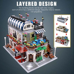 Image 3 - Yeshin MOC City Street Toys Compatible Restaurant Creative Toys Building Blocks Children Christmas Gift