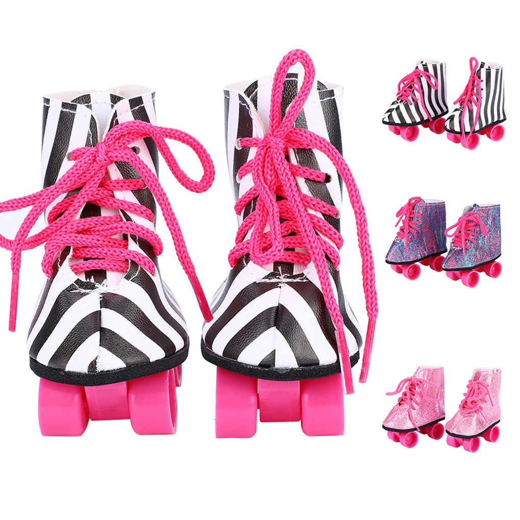 ตุ๊กตาRollerสเก็ตรองเท้าสำหรับรองเท้าตุ๊กตา 18 นิ้วเสื้อผ้าอุปกรณ์เสริมเด็กวันเกิดของขวัญ