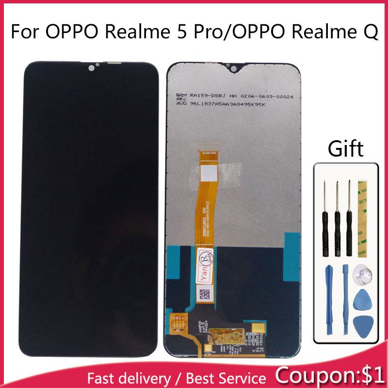 For OPPO Realme 5 Pro RMX1971 Realme Q LCD Display With Touch Screen Sensor Complete Assembly LCD For OPPO Realme 5 Pro Display