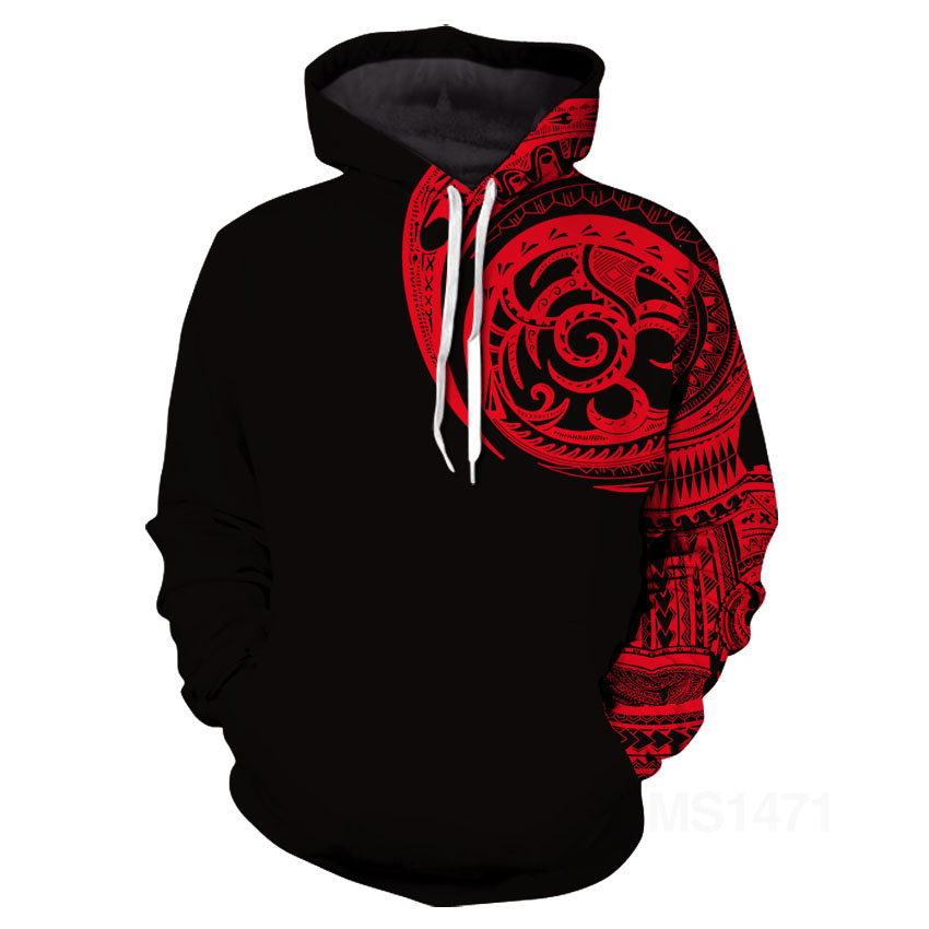 Viking Tattoo Polynesian style 3D Printed Men hoodies Harajuku Fashion Hooded Sweatshirt Autumn Unisex hoodie Man in sweatshirt