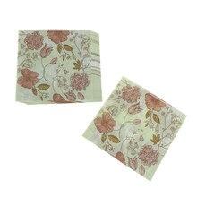 20 шт. салфетки для свадебной вечеринки с цветочным принтом бумажные салфетки для вечерние украшения