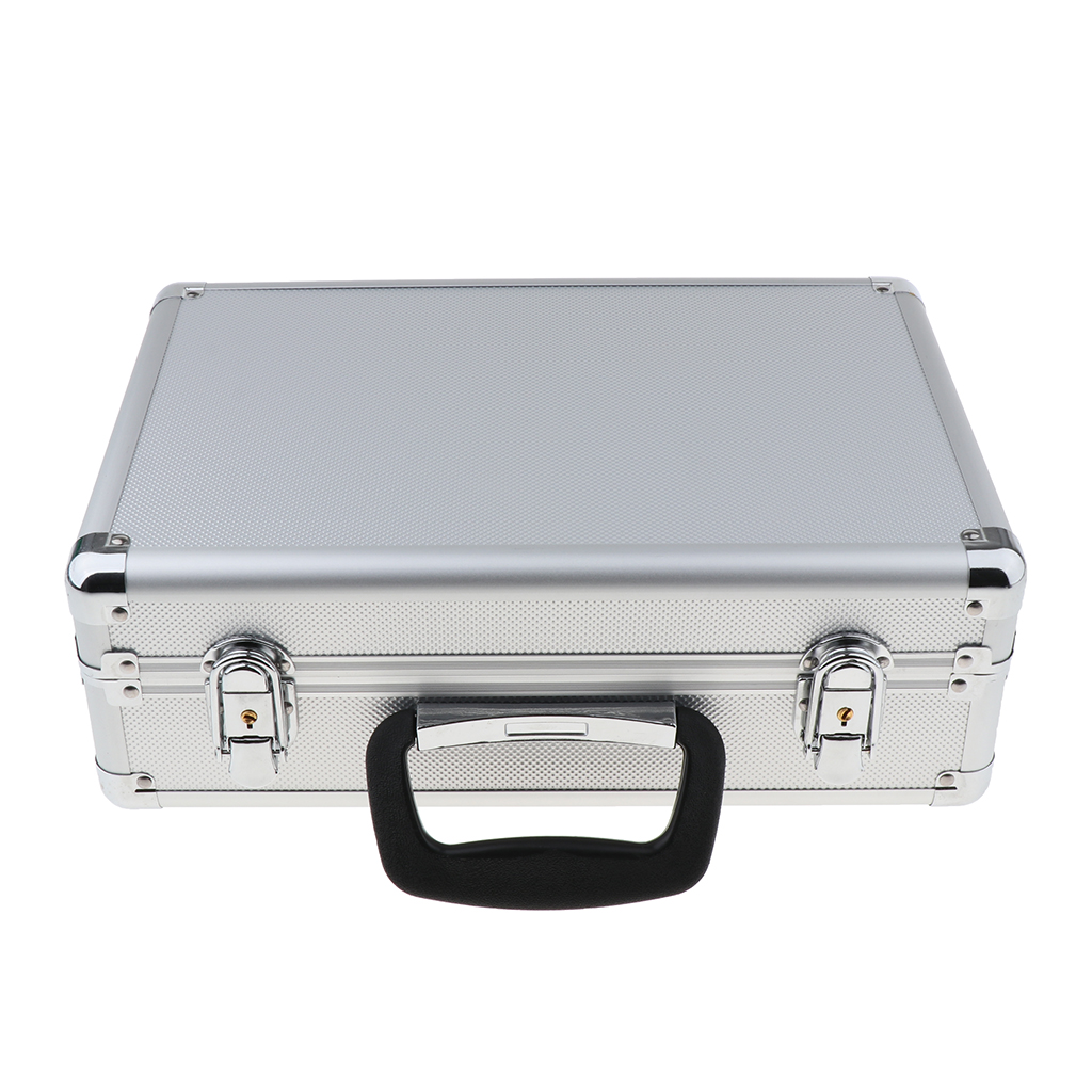 Estuche de transporte de aluminio para JR FUTABA transmisor receptor Ect caja de almacenamiento, 35x23x12cm
