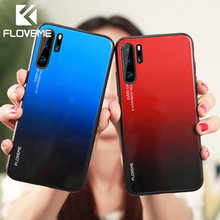 FLOVEME Glass Case For Huawei P20 P30 Lite Pro Mate 20 10 Lite Pro Phone Case Cover For Huawei P Smart 2019 Honor 8X 9 10 Lite(China)