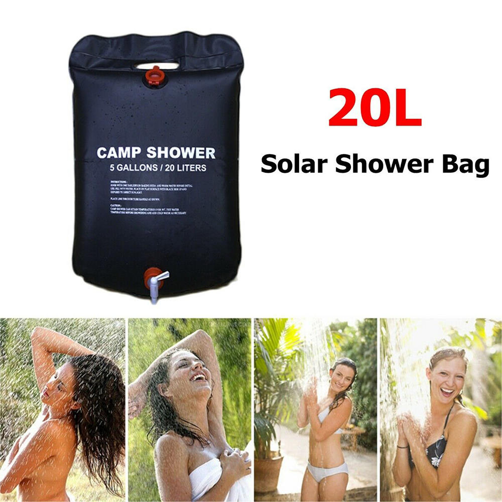 Enthusiastic 20l Outdoor Shower Bag Foldable Solar Energy Heated Pvc Water Bag Camping Travel Hiking Picnic Water Storage Cooking Supplies Unequal In Performance