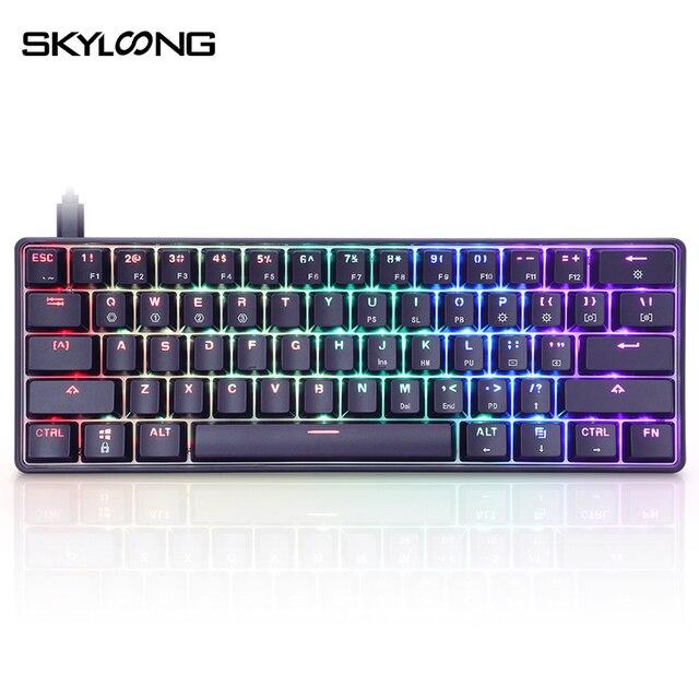 SKYLOONG GK61 SK61 Mechanische Gaming Tastatur 61 Tasten Multi Farbe RGB Beleuchtet LED Backlit Wired Programmierbare Für PC/Mac/Win
