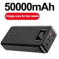 50000mAh batterie externe tyec Micro USB QC charge rapide Powerbank LED affichage Portable chargeur de batterie externe