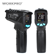 WORKPRO Digital Thermometer Humidity Meter Infrared Thermometer Hygrometer Laser Temperature Meter Non-contact Pyrometer hot tm750h environment laser infrared ir thermometer hygrometer humidity non contact lcd digital temperature meter 50 800c
