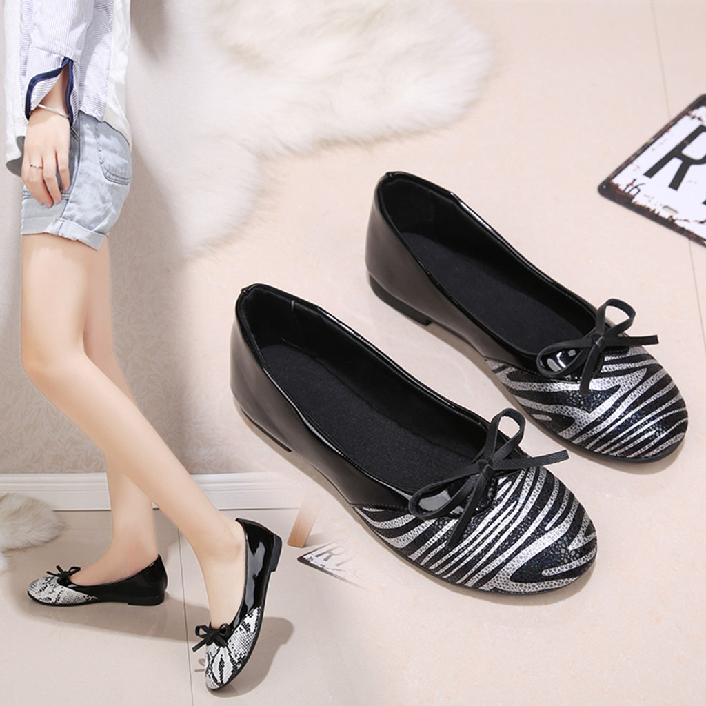 2020 Women Leopard Pumps Fashion Spring Summer Low Heel Casual Shallow Boat Shoes Elegant Female Shopping Party Leather Pump