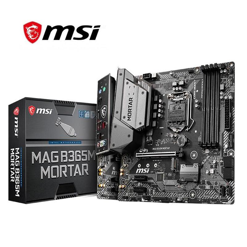 MSI MAG B365M mortero placa base LGA 1151 DDR4 soporte 9100F/9400F/9500/9700F Windows 7