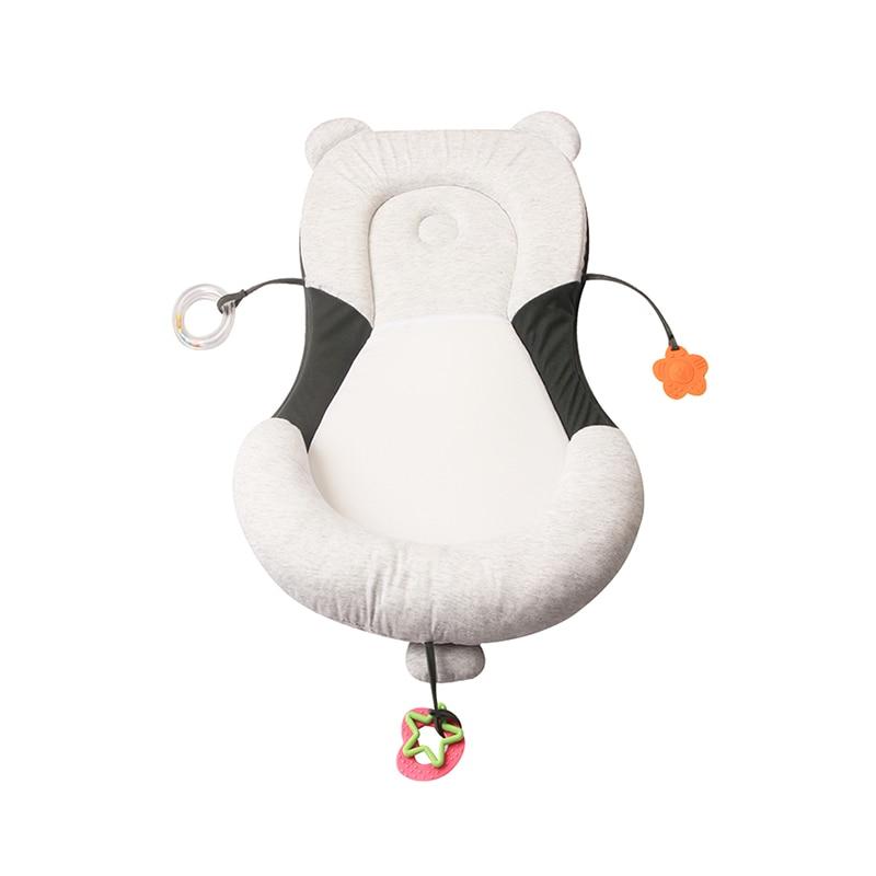 Anti Flat Head Baby Pillow Newborn Baby Sleep Positioning Pad Anti Roll Baby Head Shaping Pillows Ergonomic Infant Mattress